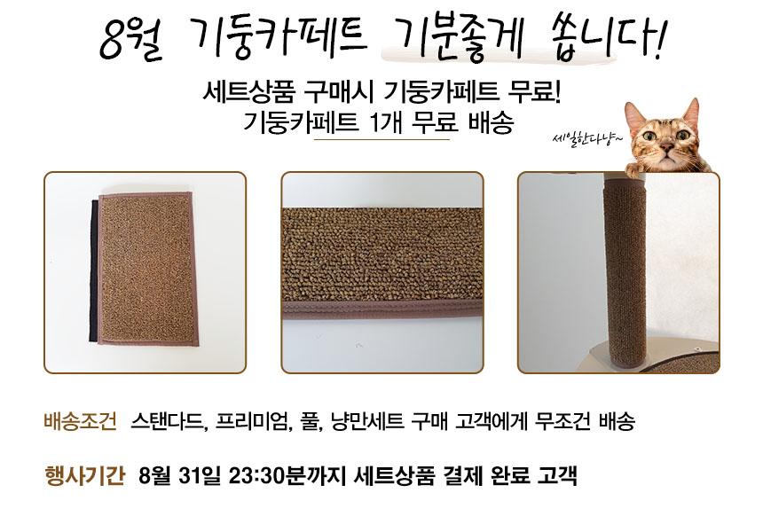 8월 세트구매시 기둥카페트 1개 무료 증정!